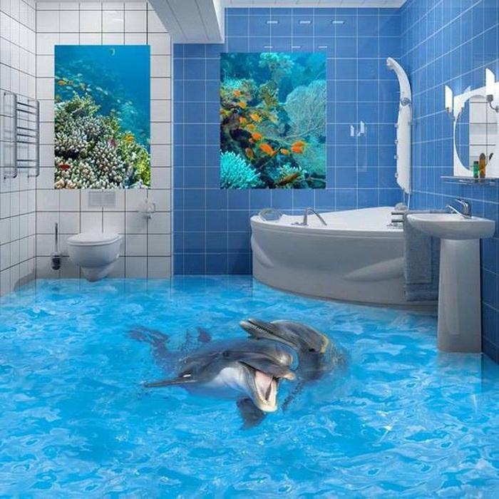 3Д покрытия для ванной