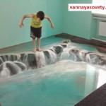 Идеи оформления наливного покрытия в ванной
