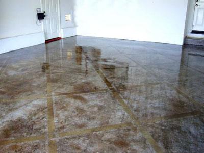 Наливной пол с кафельной плиткой