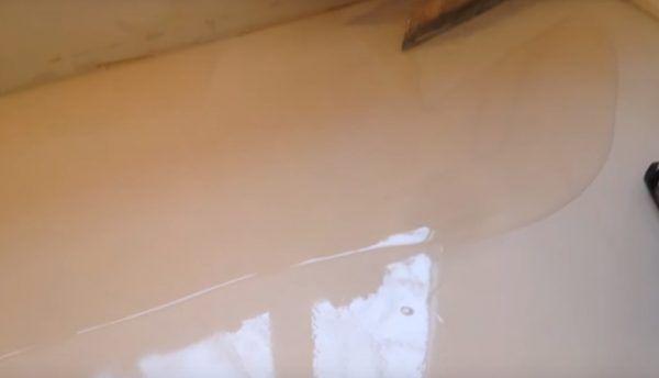 Заливка финишного полимерного слоя