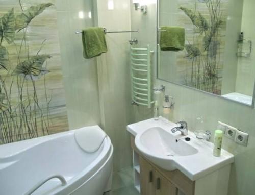 3d отделка в маленькой ванной