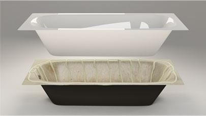 Акриловый вкладыш для старой ванны
