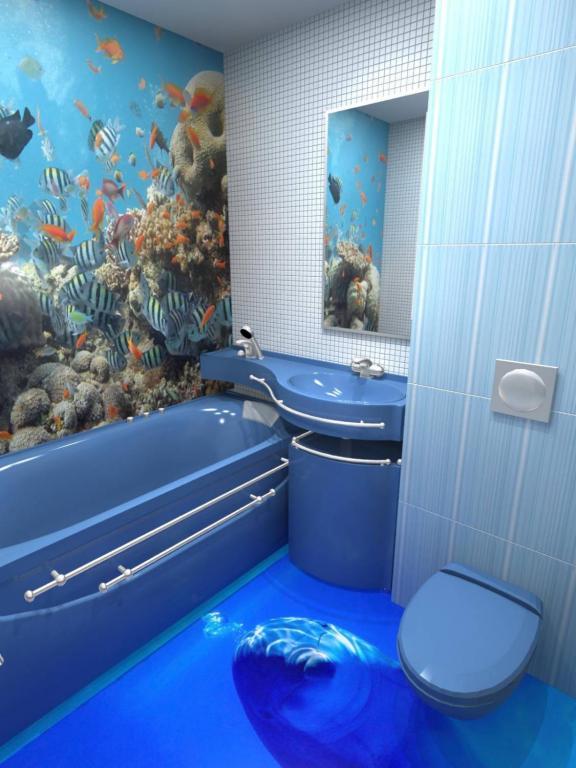Дельфин в ванной