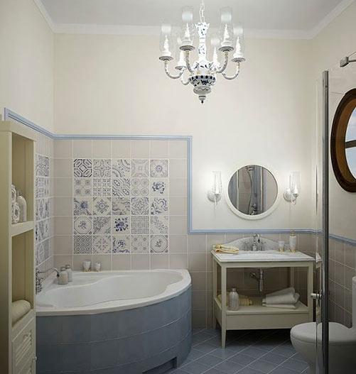 Дизайн маленькой ванны классика