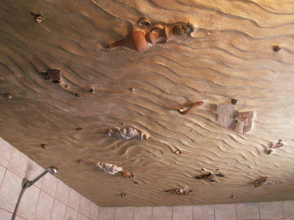 Дизайн потолка 3d в ванной