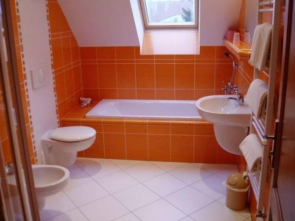 Дизайн ванной оранжевое настроение