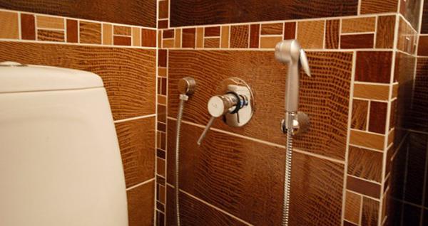 Как установить гигиенический душ
