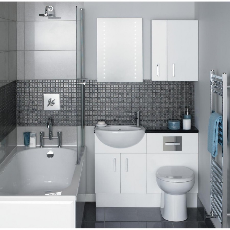 Мозаичная плитка в ванной 2 на 2 м