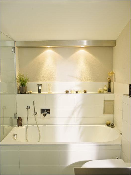 Организация освещения в ванной