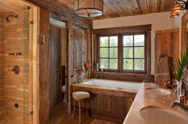 Потолок в ванной из дерева
