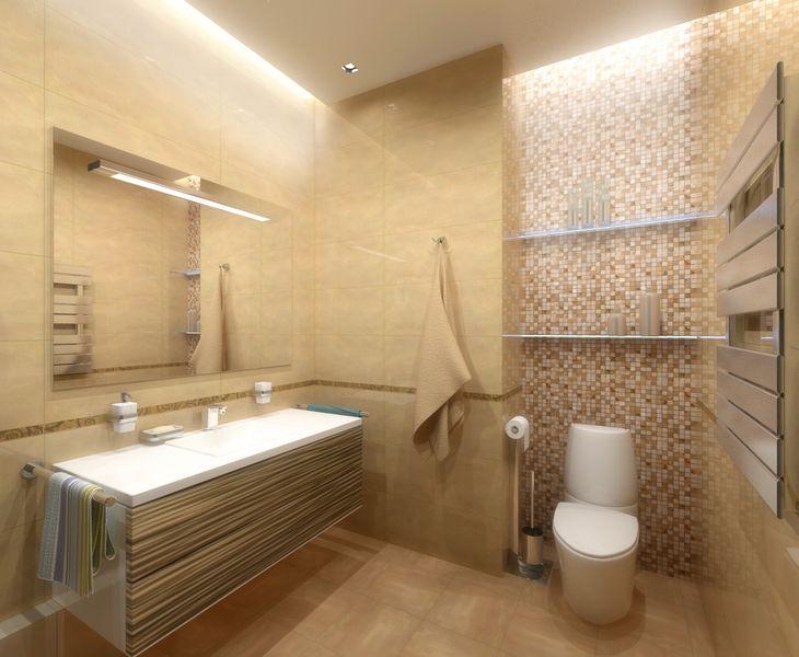 Пример оформления ванной 2х2 м
