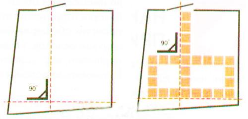 Разметка пола перед укладкой плитки