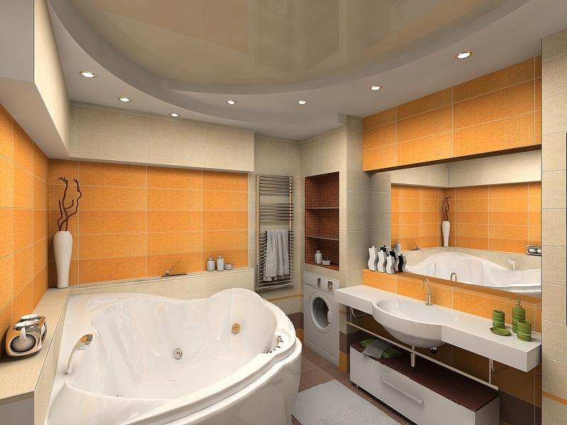 Стильный дизайн ванной 2на2 м