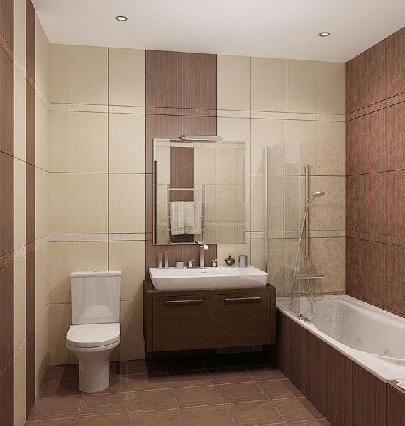 Строгий дизайн ванной 2на2 м