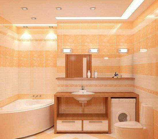 Точечные светильники в ванной комнате