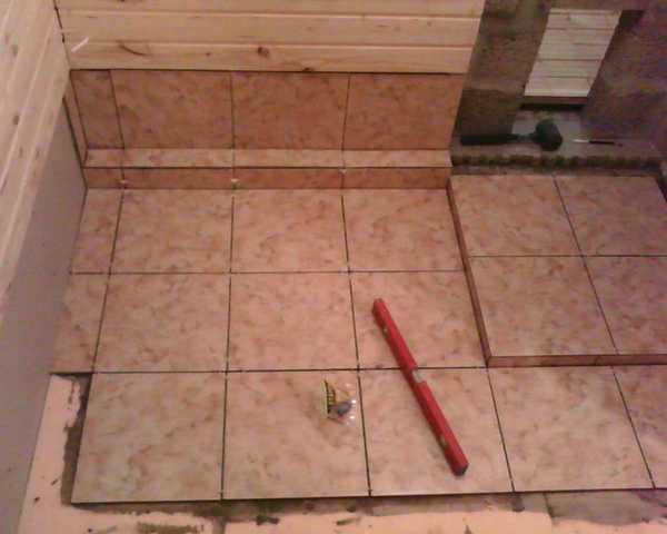 Укладка подрезанной плитки