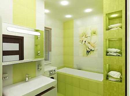 Ванная комната в цвете лайм