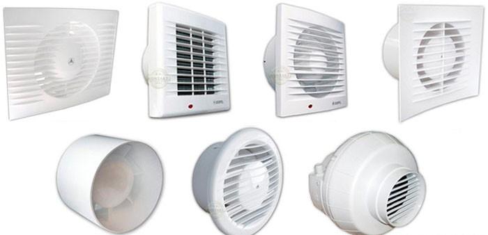 Виды вентиляторов для ванны