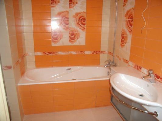 дизайн ванны в ярких тонах