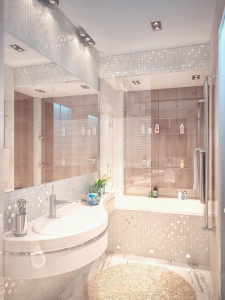 ванная 3 кв м отделанная мозаикой