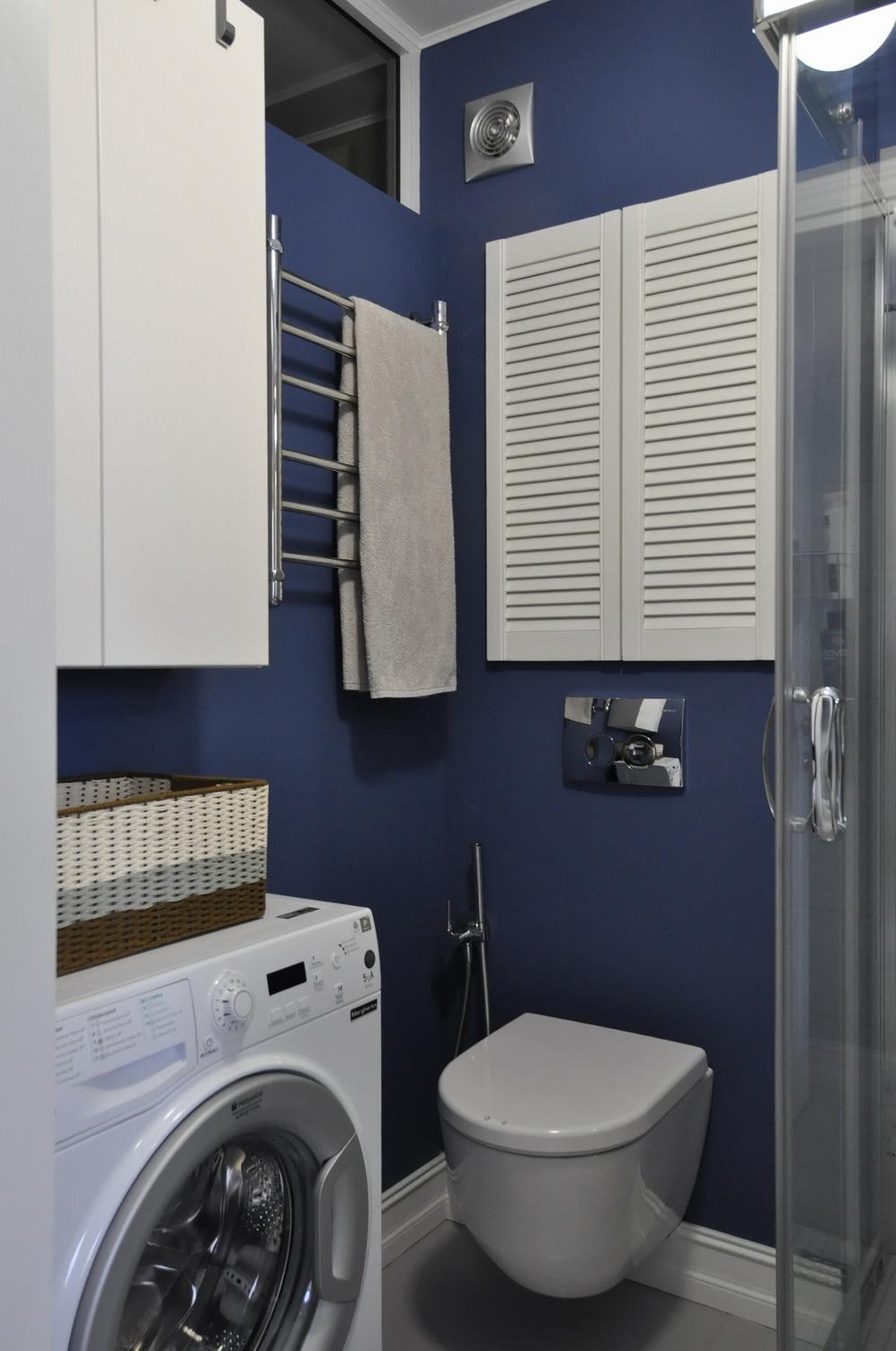 компактное размещение в ванной 3 кв м
