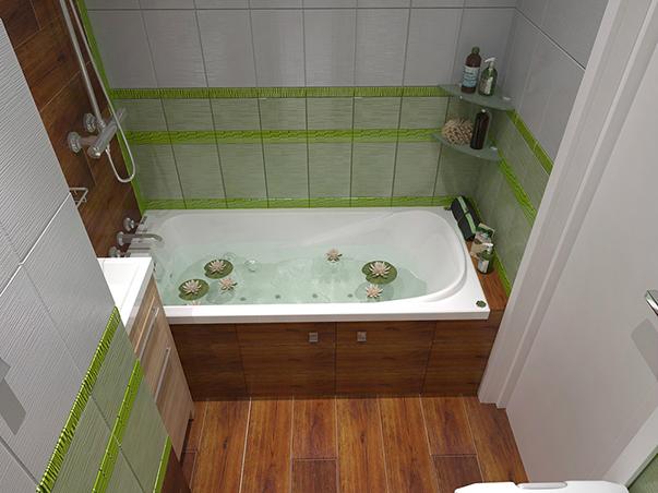 вариант оформления ванной комнаты 3 кв м