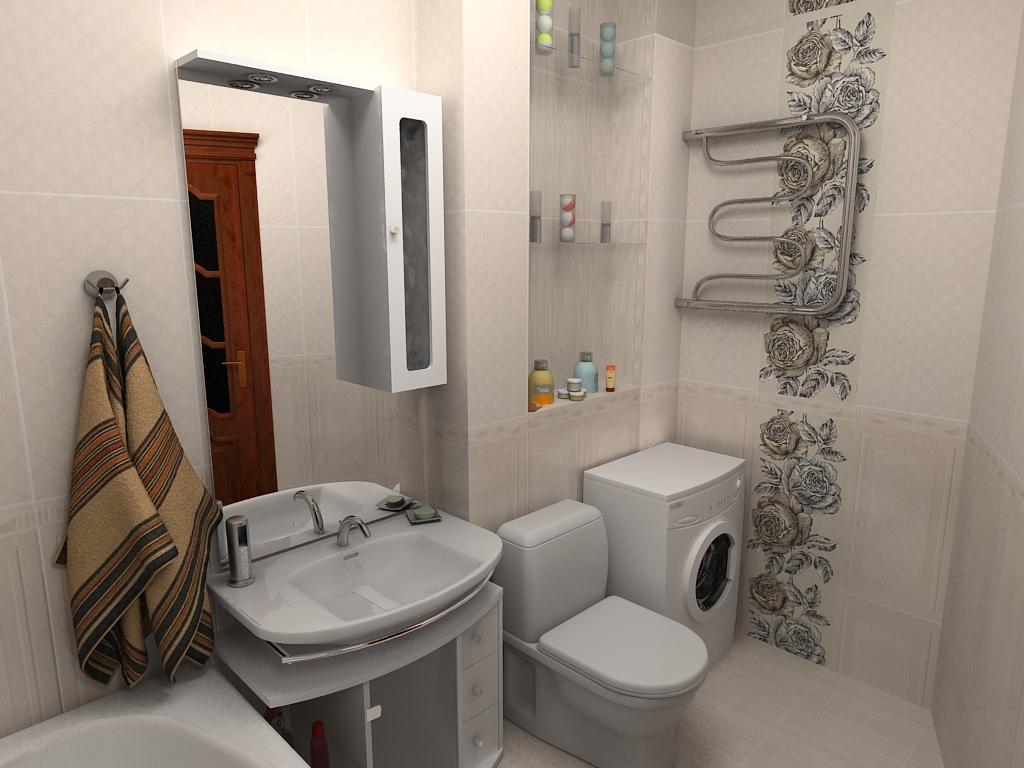 оформление открытой ниши в ванной 3 кв м