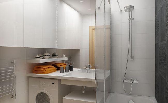 размещение стиральной машины в ванной 3 кв м