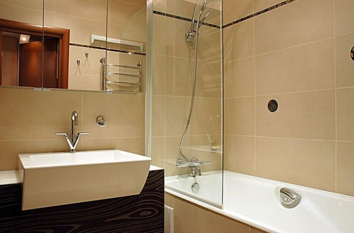 совмещение ванны и душа в ванной 3 кв м