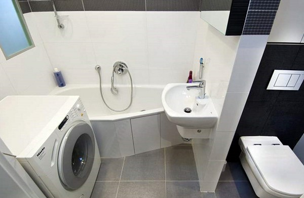 дизайн ванной совмещенной с туалетом