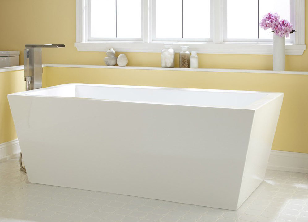 дорогая акриловая ванна