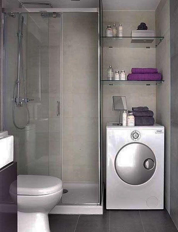 душевая кабина в ванной в стиле хай тек