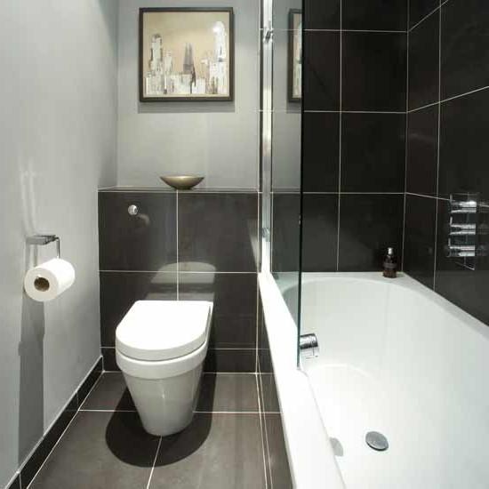 интерьер ванной в стиле хай тек