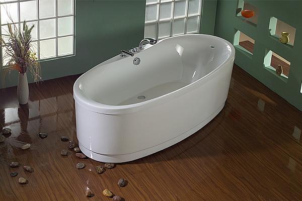 овальная акриловая ванна