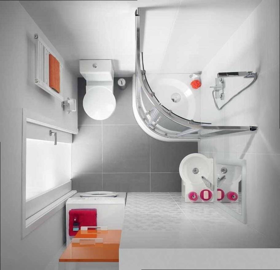 планировка для маленькой ванной комнаты