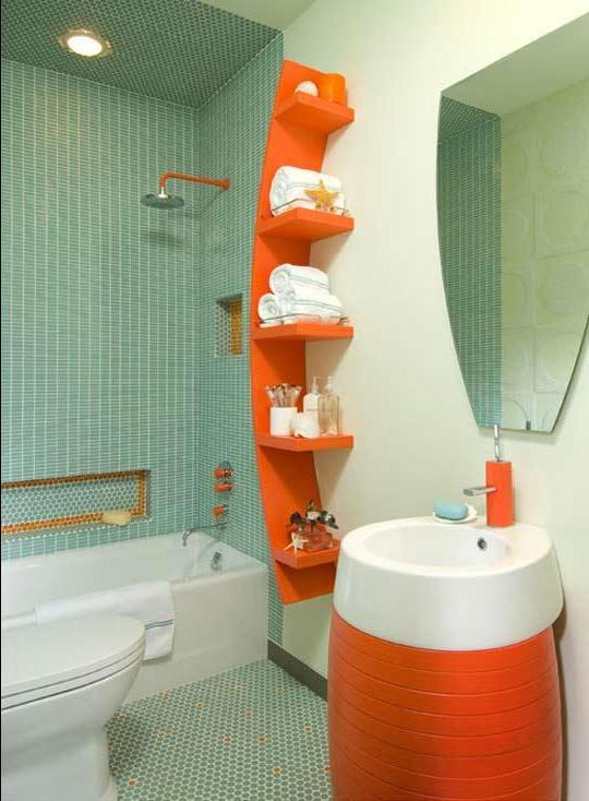 Дизайн ванной комнаты и туалета небольшого размера 170
