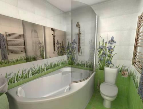 Растительный орнамент для декупажа в ванной