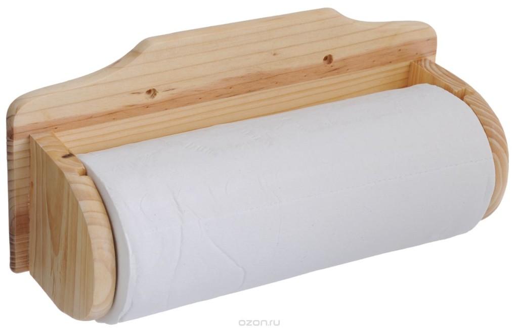 Деревянный держатель для полотенец из бумаги