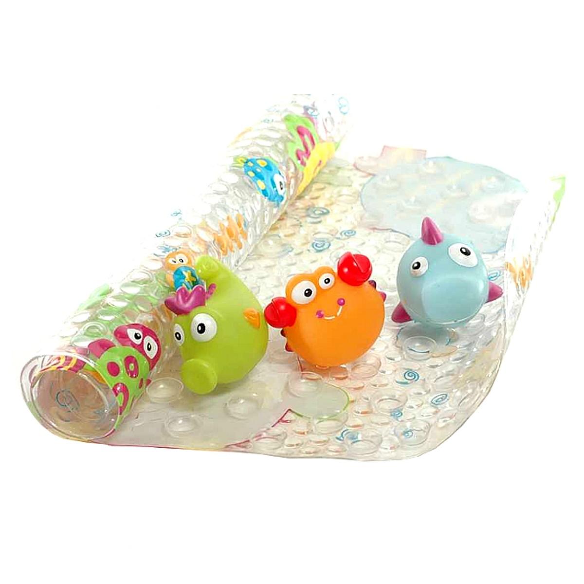 Детский коврик для ванной с милыми зверюшками