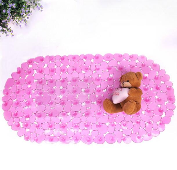 Детский розовый коврик для ванной