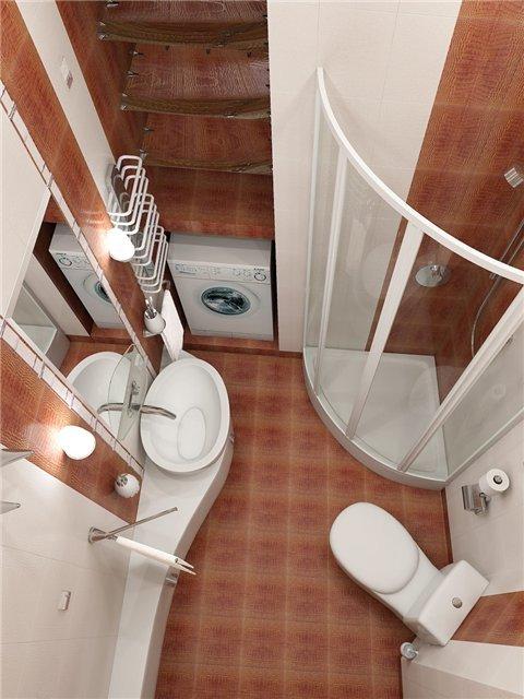 Дизайн ванной 2 кв м