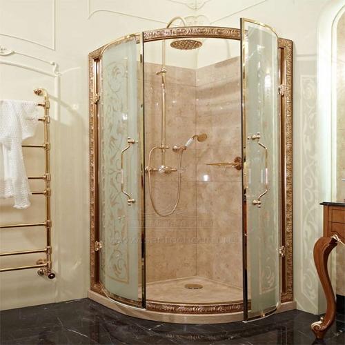 Душевая кабина в ретро стиле с распашными дверцами