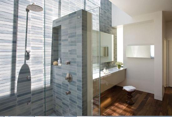 Душевые перегородки в дизайне интерьера ванной