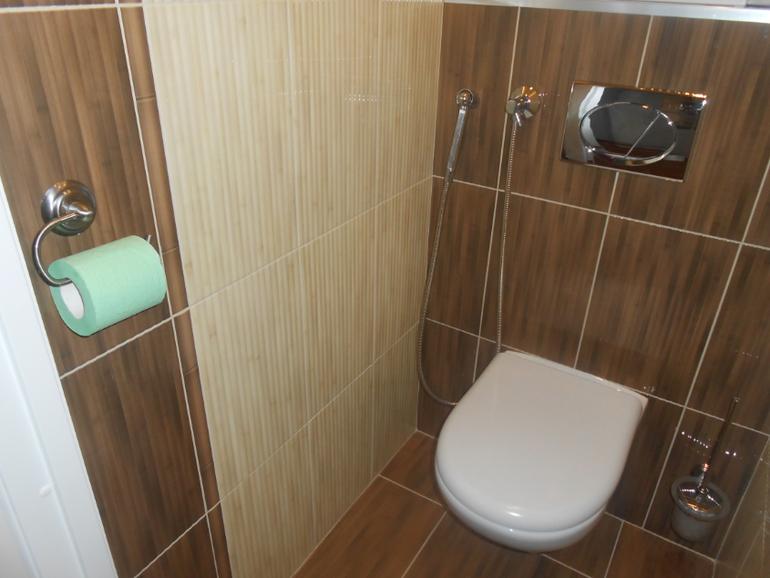 Гигиенический душ в интерьере туалета