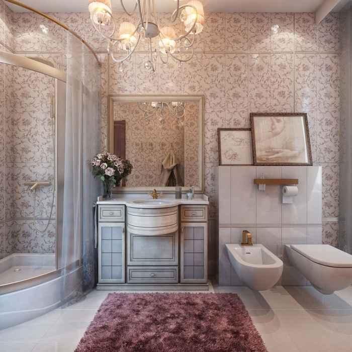 Гипсовый камень в интерьере и хай тек в интерьере ванной