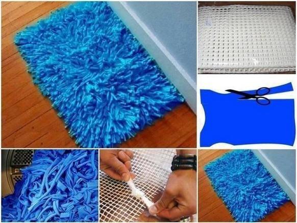 Изготовление коврика из ткани