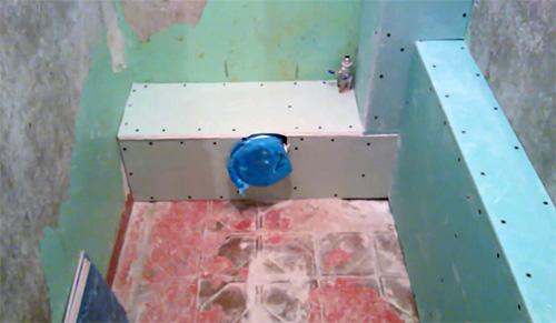 Как выглядит каркас, полностью зашитый гипсокартоном