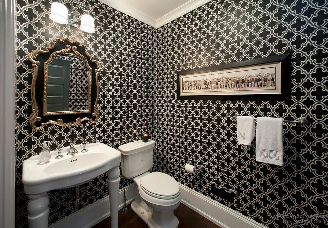 Красивый черно белый дизайн стен