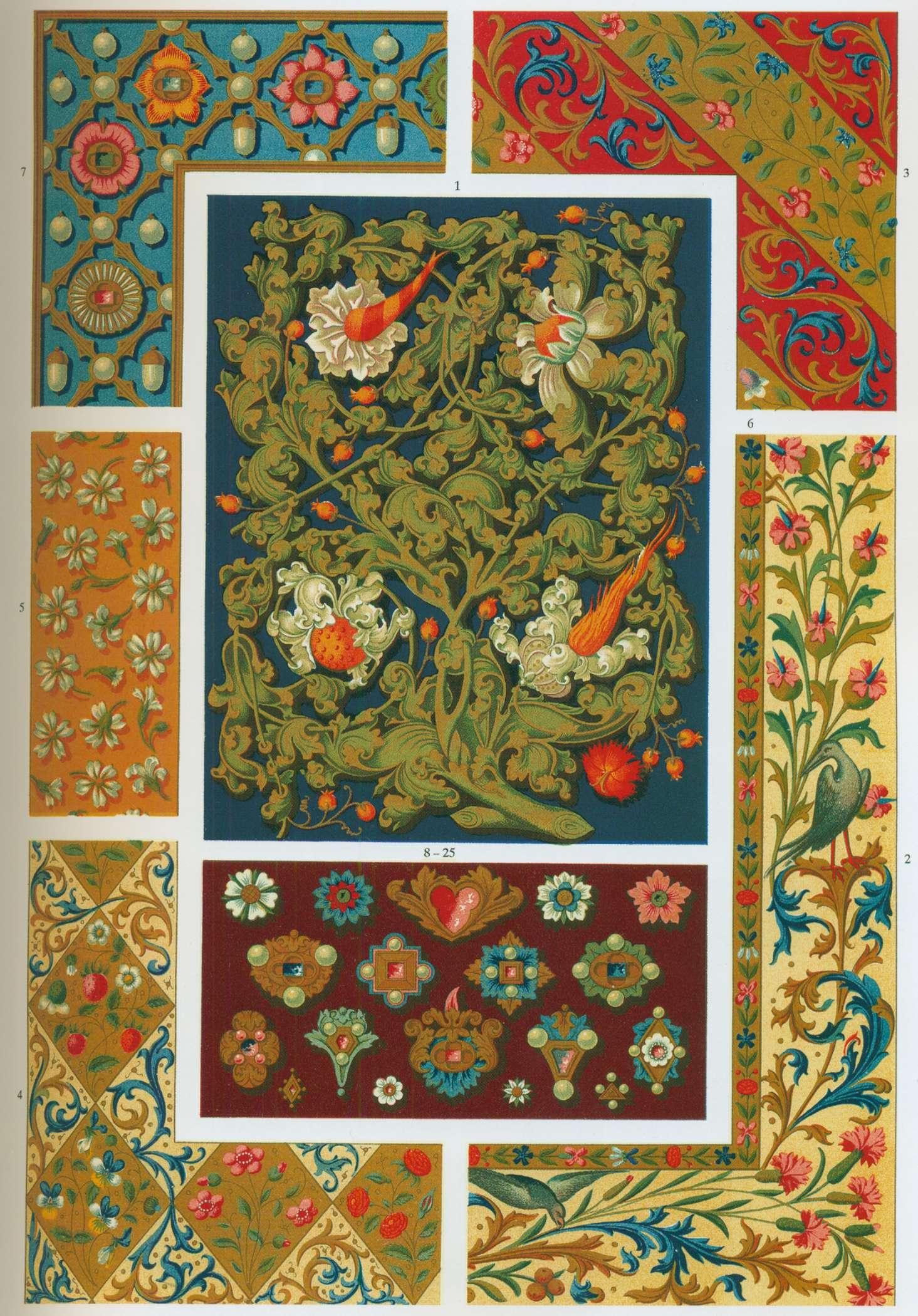 Мозаика с растительными мотивами