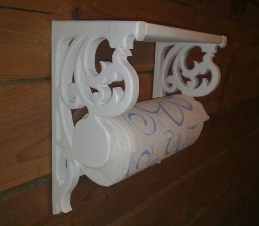 Необычный дизайн держателя для полотенец из бумаги